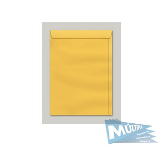 ENVELOPE SACO KRAFT OURO 80G 185X248MM 10UN SKO024 SCRITY