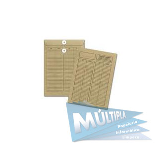 ENVELOPE VAI E VEM VERTICAL KRAFT NATURAL 250X353MM 10UN 35V SCRITY