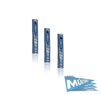 ESPIRAL PLASTICO AZUL ROYAL 14MM P/ 85FL 100UN ALLPLAST