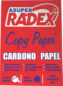 PAPEL CARBONO A4 AZUL 100FL RADEX