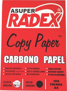 PAPEL CARBONO A4 PRETO 100FL RADEX