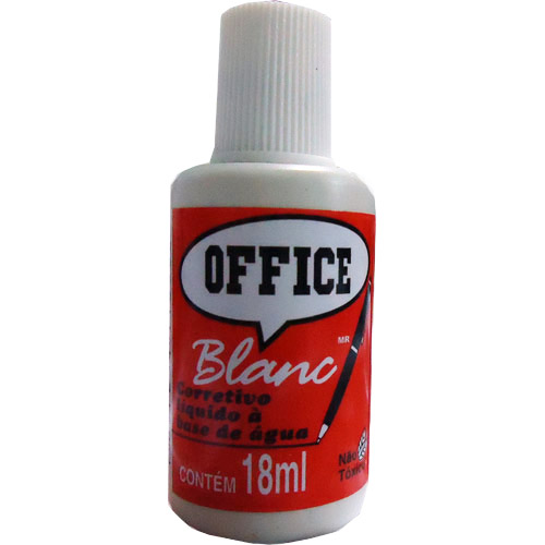 CORRETIVO LIQUIDO 18ML OFFICE BLAN RADEX