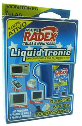 LIMPADOR MONITOR SPRAY 60ML TRONIC + FLANELA CX AZUL RADEX
