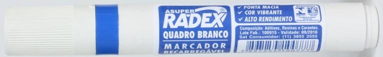 PINCEL PARA QUADRO BRANCO AZUL RECARREGAVEL RADEX