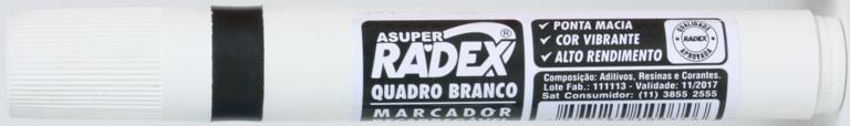 PINCEL PARA QUADRO BRANCO PRETO RECARREGAVEL RADEX