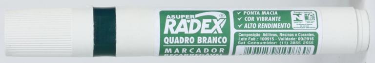 PINCEL PARA QUADRO BRANCO VERDE RECARREGAVEL RADEX