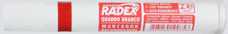 PINCEL PARA QUADRO BRANCO VERMELHO RECARREGAVEL RADEX