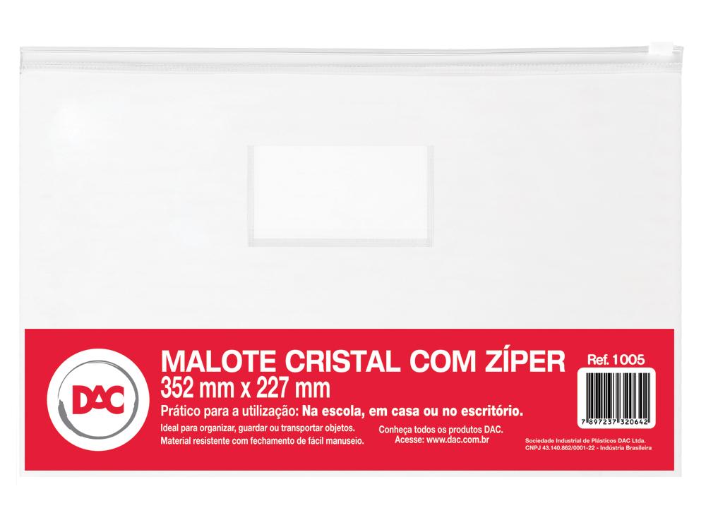 ENVELOPE PLASTICO 354X227MM ZIPER 1005 DAC