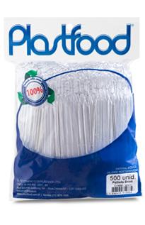 PALHETA DRINK CRISTAL 11CM 500UN PLASTFOOD