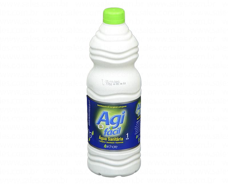 AGUA SANITARIA CLORO ATIVO 2,0 A 2,5% AGI FACIL 1L ARCHOTE