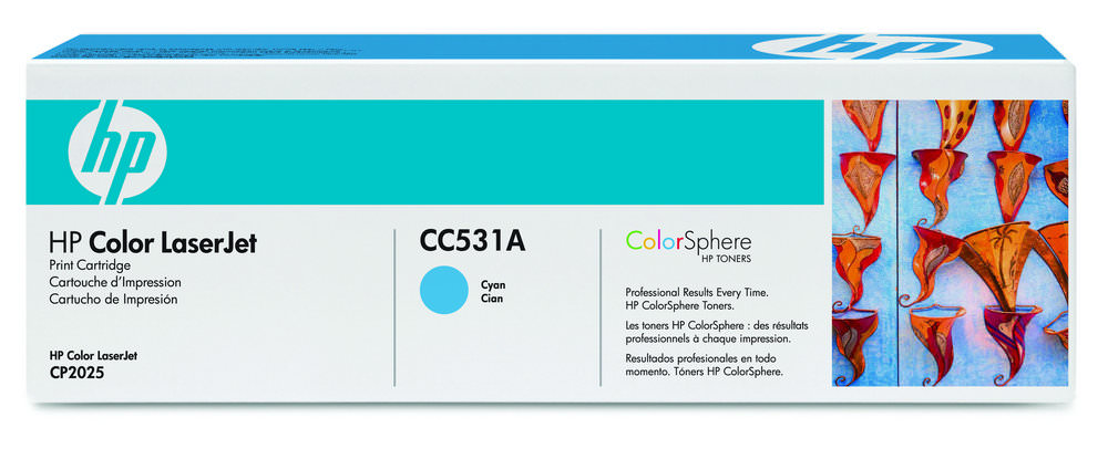 TONER CC531A CIANO 2.800 PAG HP