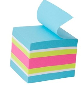 BLOCO ADESIVO 47,6X47,6MM CUBO ULTRA CORES NEON 400FL POST-IT 3M