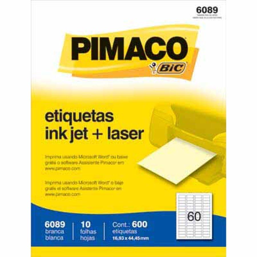 ETIQUETA 6089 16,93X44,45MM 60 P/FL 10FL PIMACO