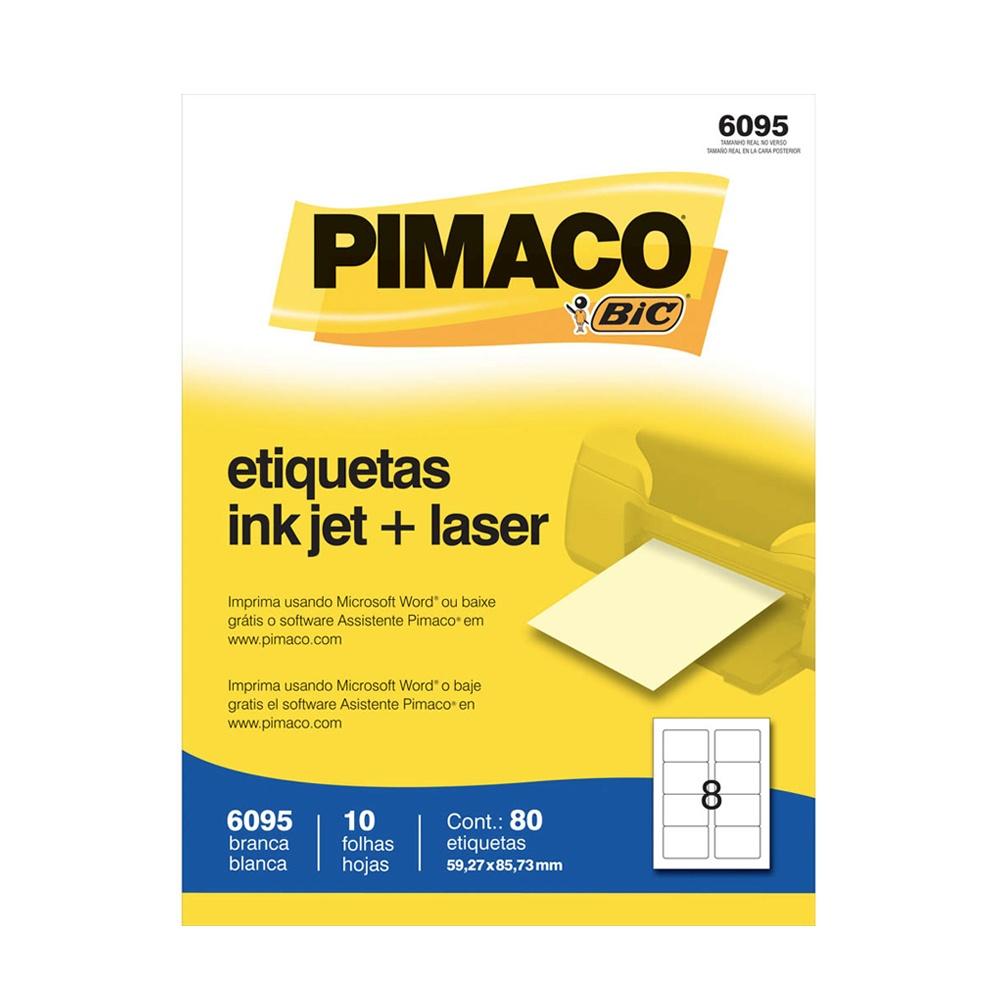 ETIQUETA 6095 59,27X85,73MM 8 P/FL 10FL PIMACO