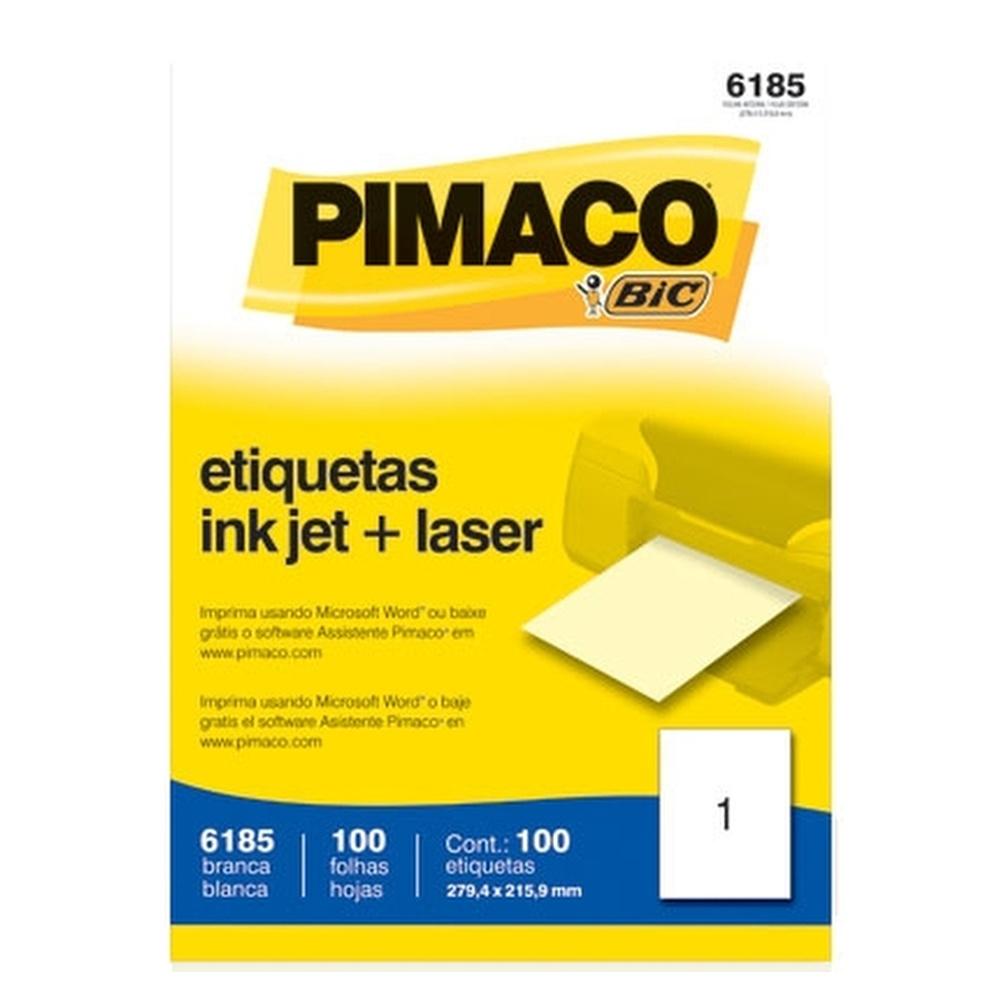 ETIQUETA 6185 279,4X215,9MM 1 P/FL 100FL PIMACO
