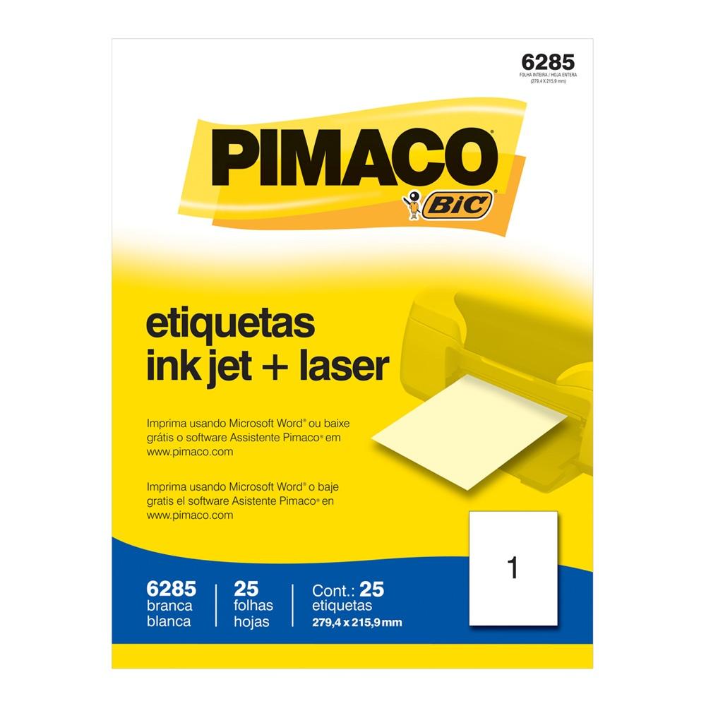 ETIQUETA 6285 279,4X215,9MM 1 P/FL 25FL PIMACO