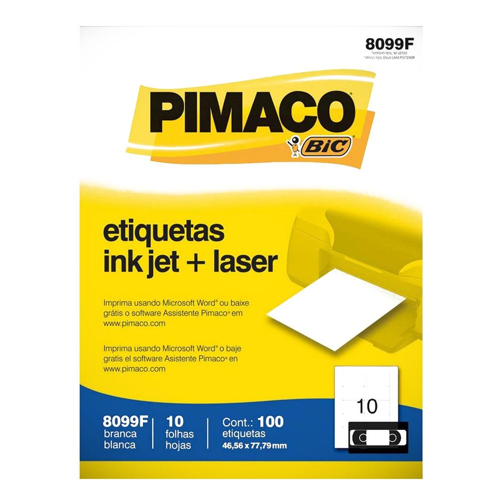 ETIQUETA 8099F 46,56X77,9MM 10 P/ FL 10FL PIMACO
