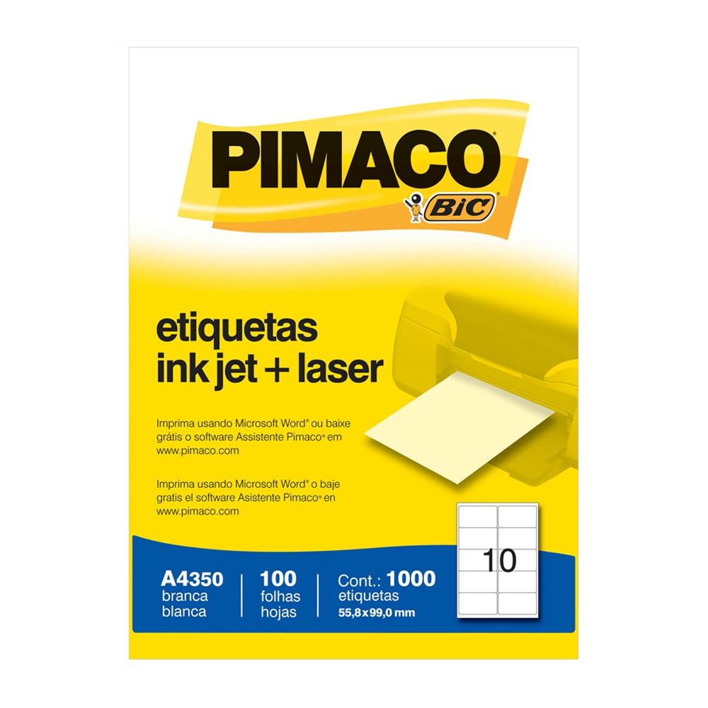 ETIQUETA A4350 55,9X99,0MM 10 P/FL 100FL PIMACO
