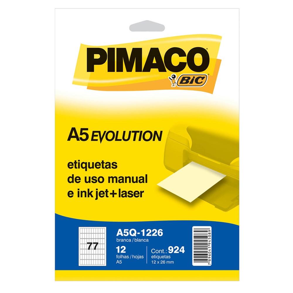 ETIQUETA A5Q-1226 12,0X26,0MM 924UN PIMACO