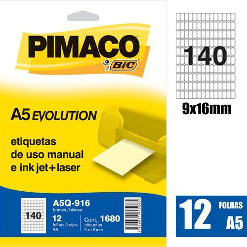 ETIQUETA A5Q-916 9,0X16,0MM 1680UN PIMACO