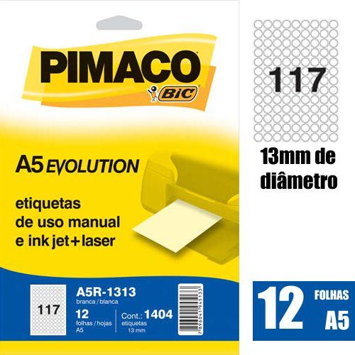 ETIQUETA A5R-1313 DIAMETRO 13MM 1404UN PIMACO