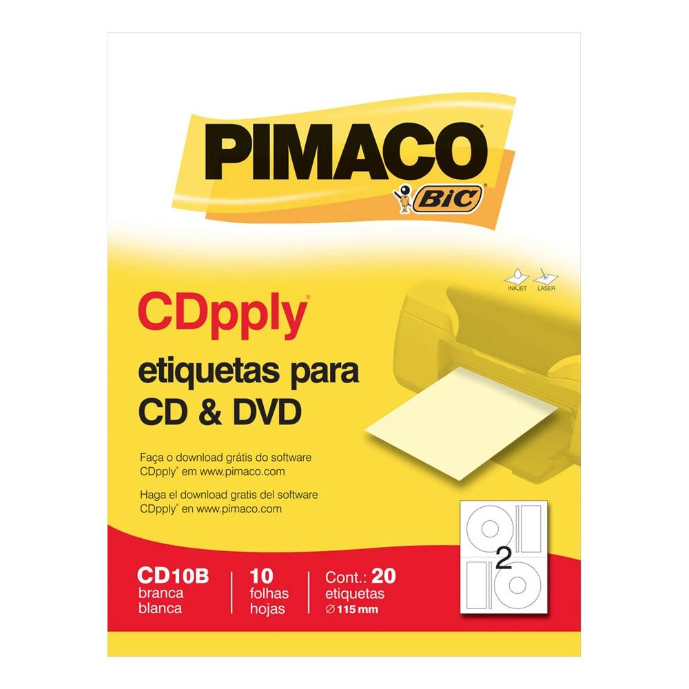 ETIQUETA CD10B P/ CD 2 P/ FL 10FL PIMACO