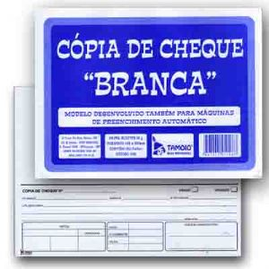 COPIA CHEQUE BRANCA BLOCO 100FL TAMOIO