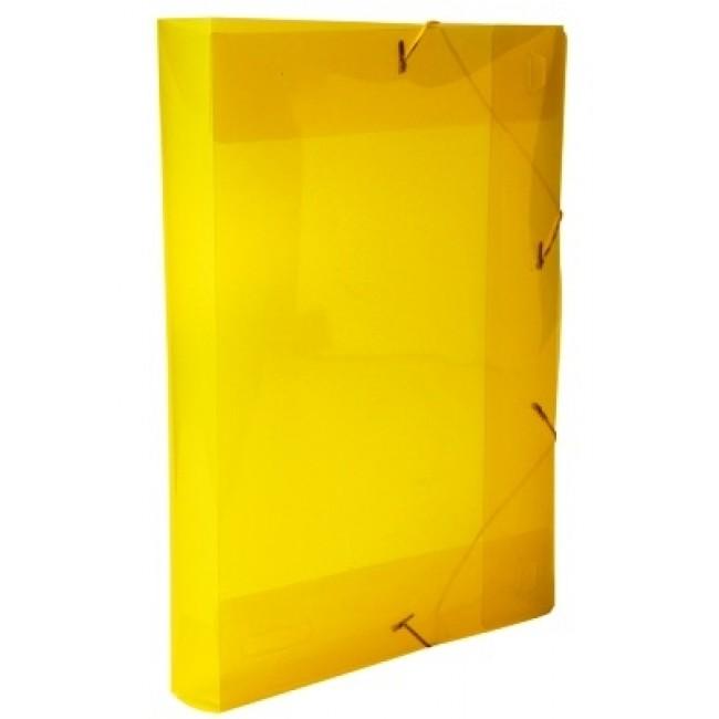 PASTA ABA/ELASTICO PLASTICA OF AMARELA 40MM