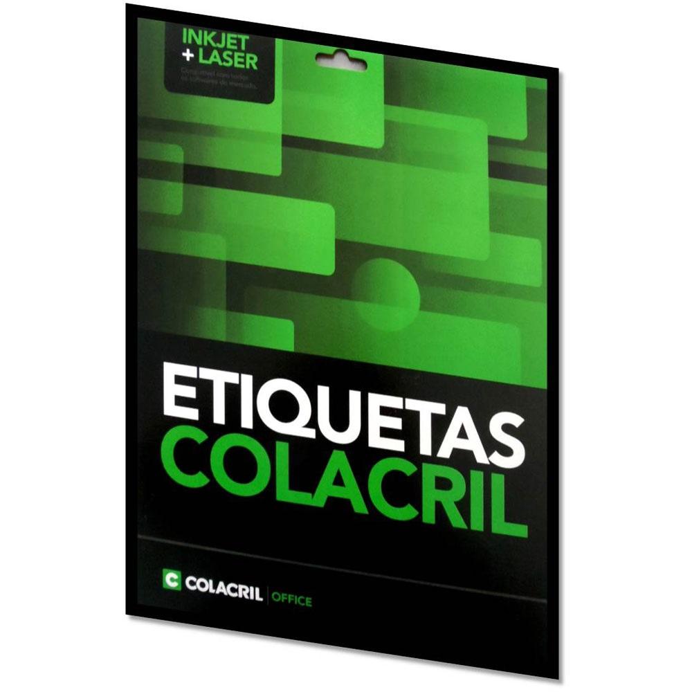ETIQUETA INKJET E LASER CARTA 6185 279,4X215,9MM BRANCA CX 100UN COLACRIL