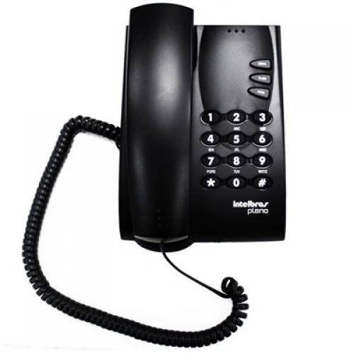 TELEFONE COM FIO SEM CHAVE PRETO PLENO INTELBRAS