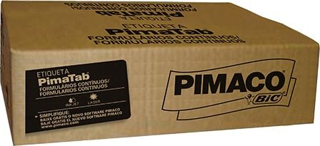 ETIQUETA MATRICIAL 88,9X36,5MM 2 CARREIRAS CX 8000UN PIMACO