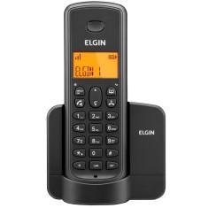 TELEFONE SEM FIO PRETO DECT 6.0 1.9GHZ IDENTIFICADOR CHAMADAS TSF 8001 ELGIN