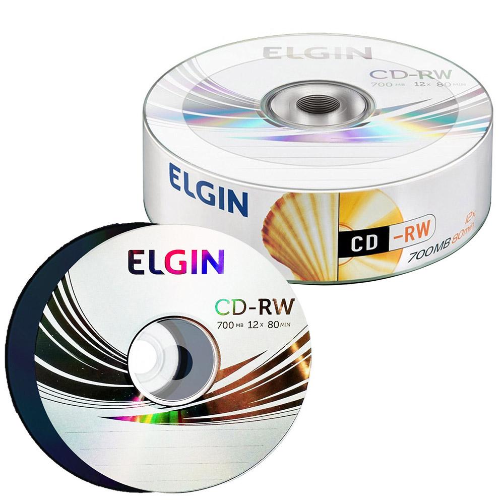 CD-RW 700MB 12X 80MIN BULK 25UN ELGIN