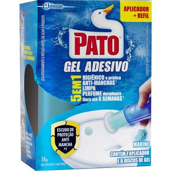 GEL SANITARIO ADESIVO MARINE COM APLICADOR E REFIL 38G PATO