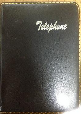 INDICE TELEFONICO DE BOLSO PVC PRETO