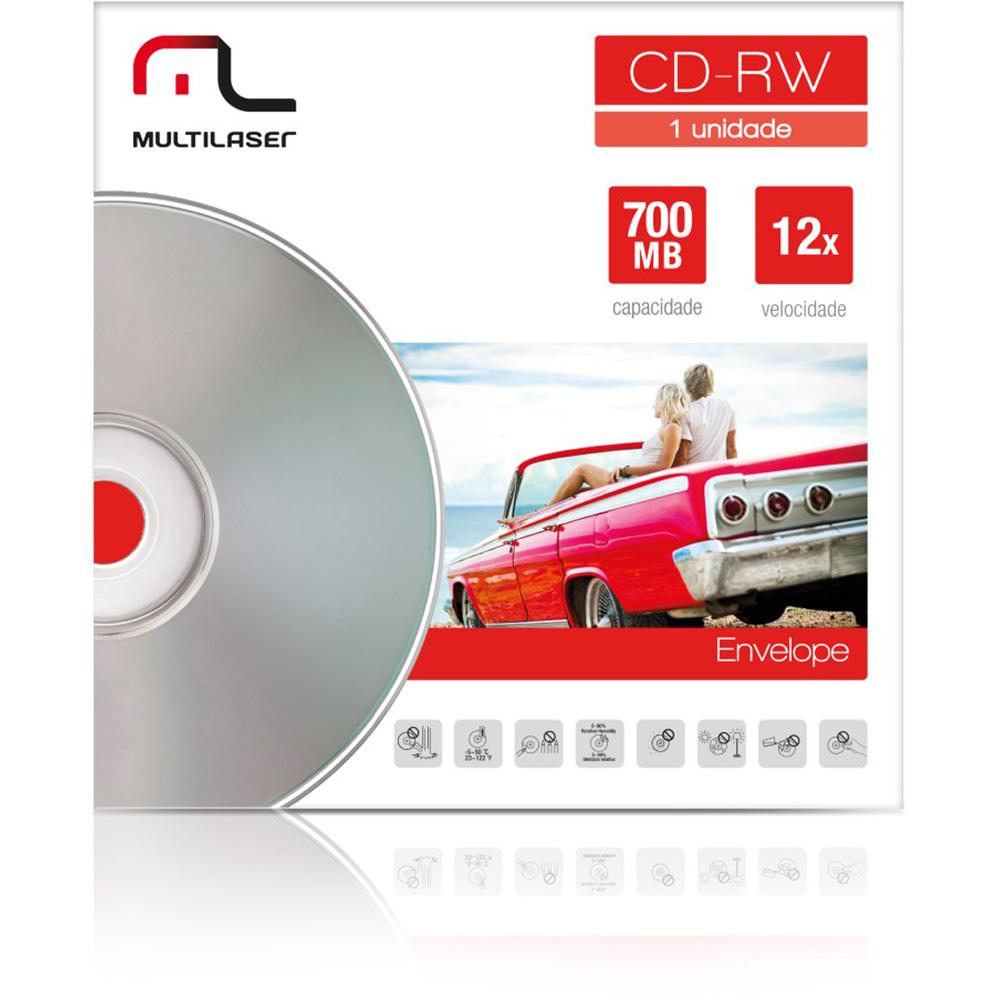 CD-RW 700MB 12X 80MIN ENVELOPE CD037 MULTILASER