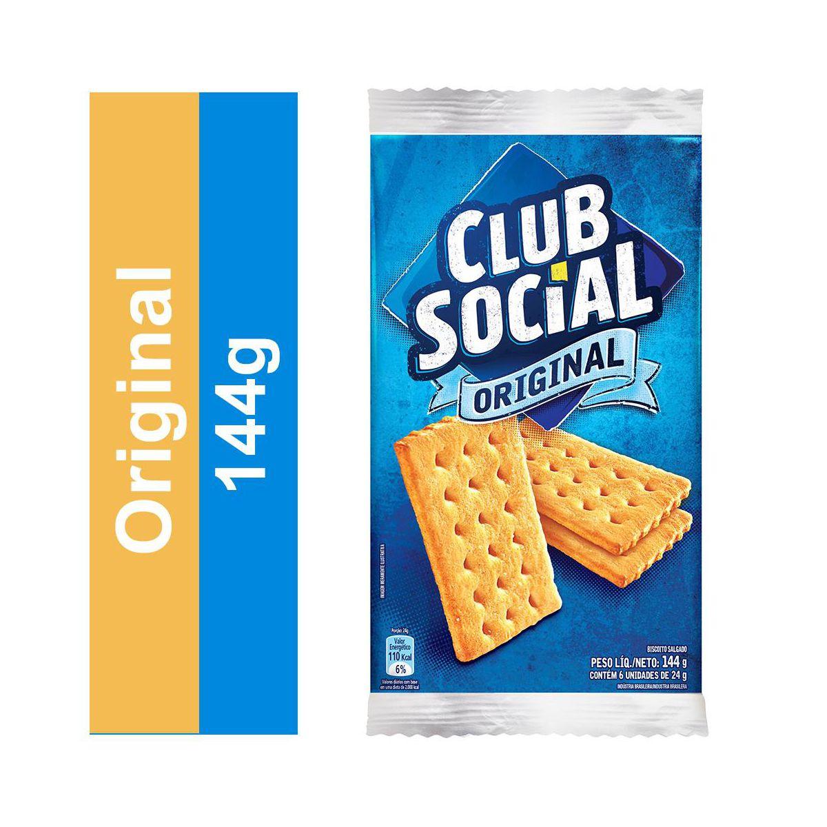 BISCOITO ORIGINAL 144G CLUB SOCIAL