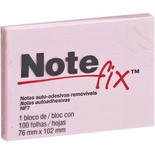 BLOCO ADESIVO 76X102 ROSA 100FL NOTE FIX 3M