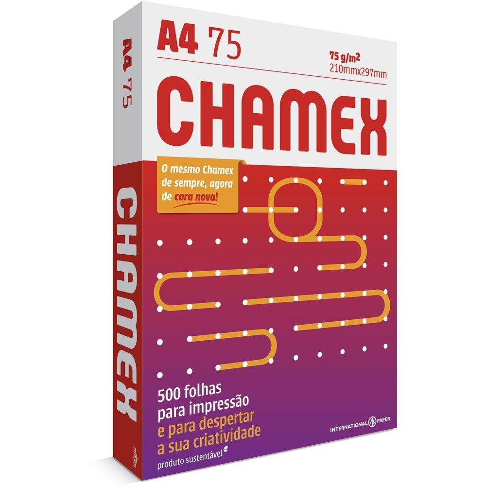PAPEL A4 (210X297MM) BRANCO 75G 500FL CHAMEX
