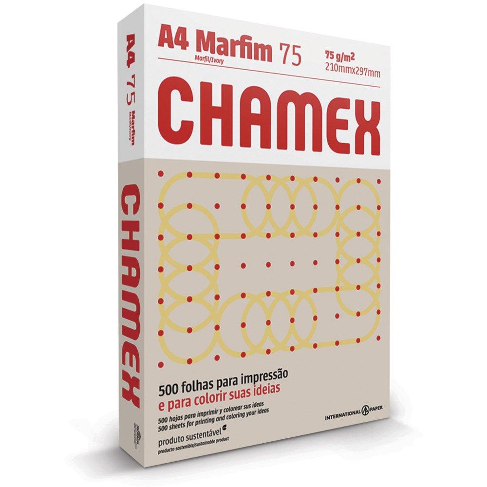 PAPEL SULFITE A4 MARFIM 210X297MM 75G 500FL CHAMEX