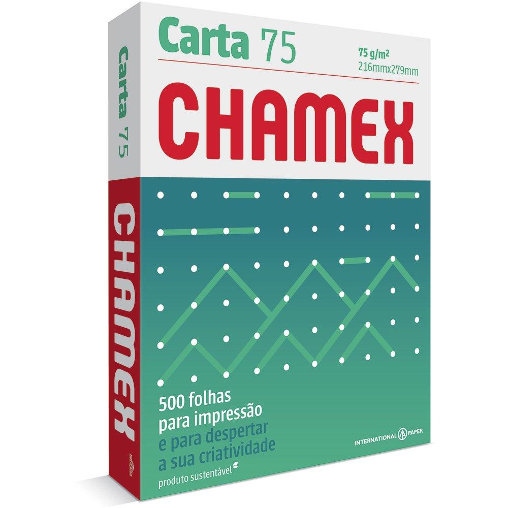 PAPEL SULFITE CARTA BRANCO 216X279MM 75G 500FL CHAMEX