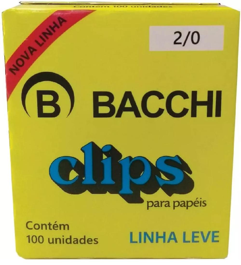 CLIPS Nº 2/0 GALVANIZADO LEVE 100UN BACCHI