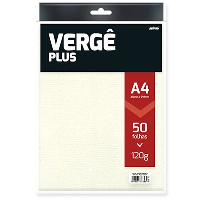 PAPEL VERGE 120G BRANCO 210X297MM 50FL DIAMANTE SPIRAL