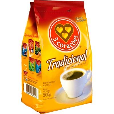 CAFE TRADICIONAL ALMOFADA 500G 3 CORACOES
